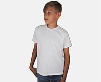 Детская Классическая Футболка для Мальчиков Белая Fruit of the loom 61-033-30 3-4