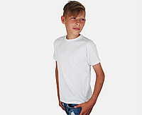 Детская Классическая Футболка для Мальчиков Белая Fruit of the loom 61-033-30 9-11