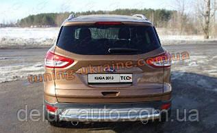 Защита заднего бампера труба прямая D60 на Ford Kuga