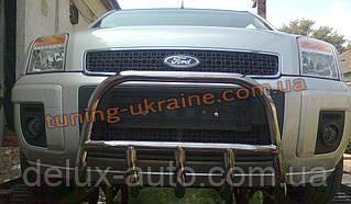 Защита переднего бампера кенгурятник низкий D60 на Ford Fusion
