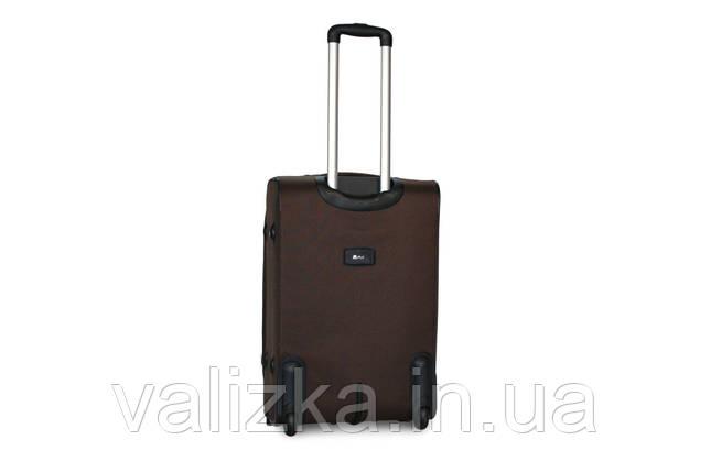 Средний текстильный чемодан на 2-х колесах с расширителем  Fly коричневый, фото 2