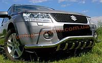 Защита переднего бампера дуга D60 на Suzuki Grand Vitara 2006-2015