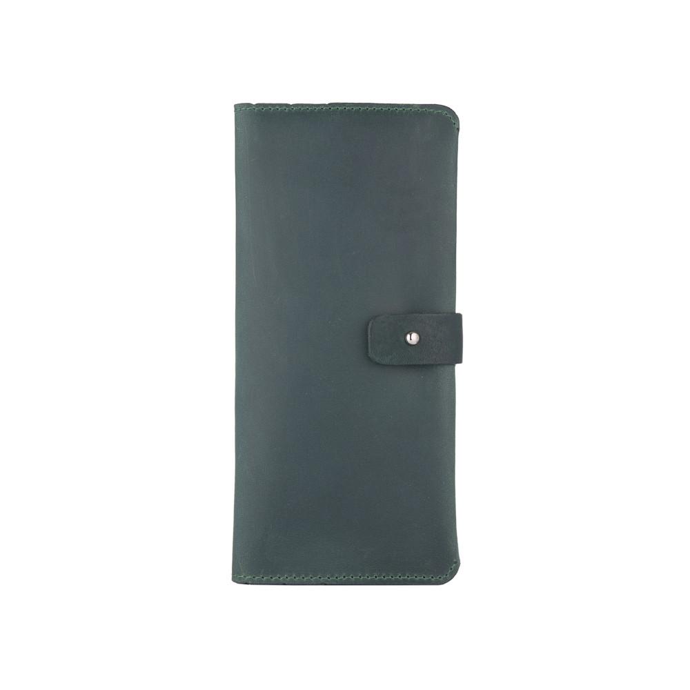 Оригинальный бумажник на кобурном винте, с натуральной кожи зеленого цвета