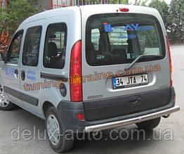 Защита заднего бампера труба прямая D60 на Renault  Kangoo 1998-2008
