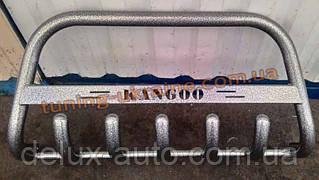 Защита переднего бампера кенгурятник крашенный низкий с надписью  D42 на Renault  Kangoo 1998-2008