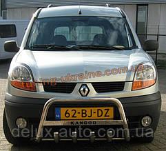 Защита переднего бампера кенгурятник низкий с надписью D60 на  Renault  Kangoo 1998-2008