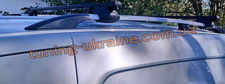 Рейлинги на крышу алюминиевые концевики ABS  для Renault  Kangoo 2008