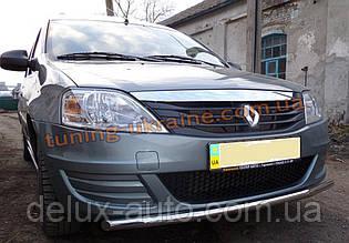 Защита переднего бампера труба одинарная D60 на Renault Logan 2004-2012