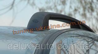 Рейлинги  (черные - Black) алюминиевые концевики ALM на Renault Logan 2004-2012