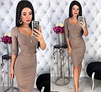 Женское джинсовое платье со съёмным поясом