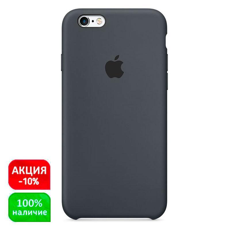Силиконовый чехол накладка Silicone Case черный для Apple iPhone 6S  (black)