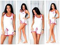 Женский летний спортивный костюм Nike (майка шорты)