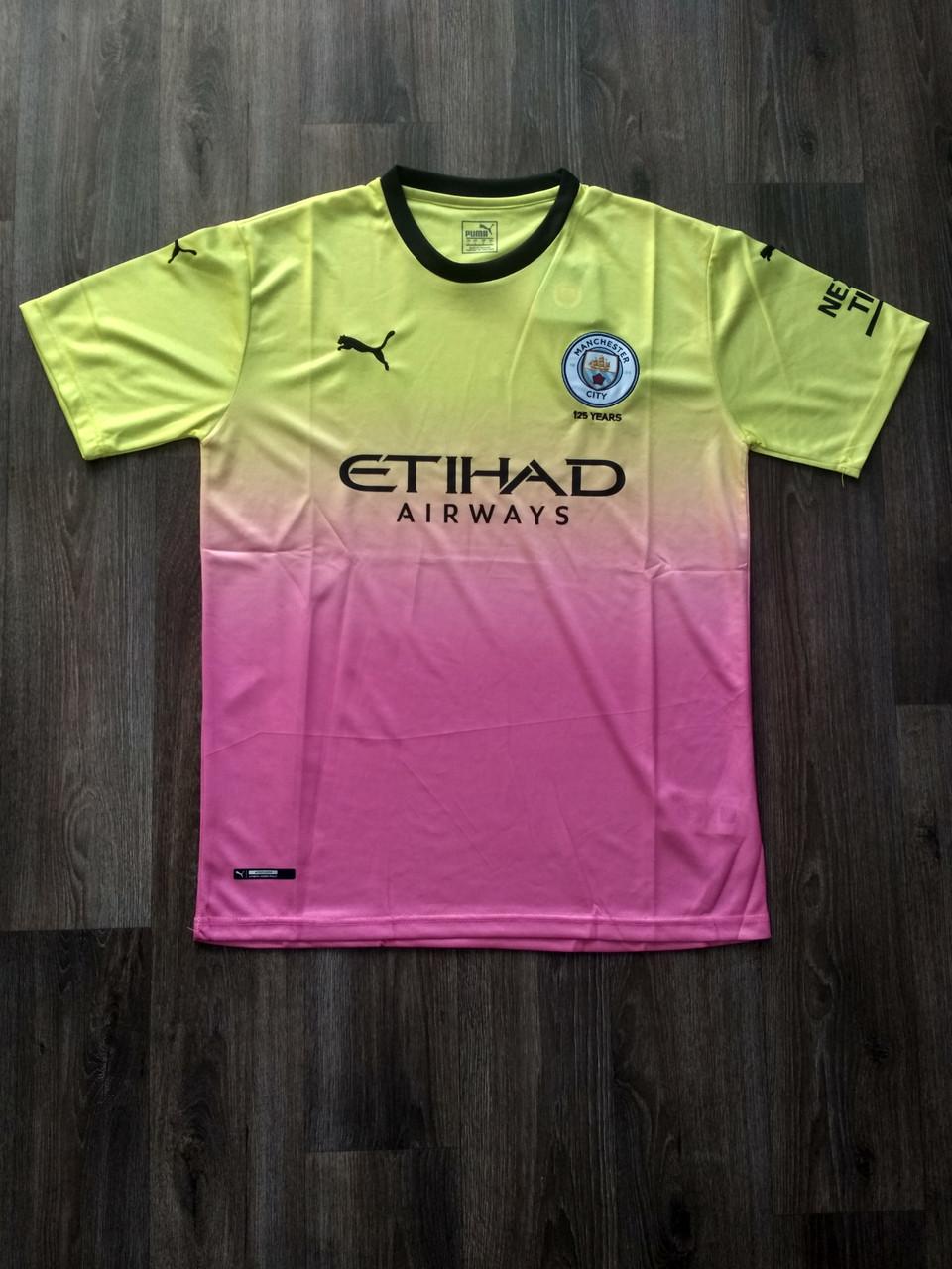 Тренировочная футболка игровая Манчестер Сити 2019-2020 желтая