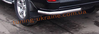 Захист заднього бампера куточки одинарні D60 на Toyota Land Cruiser Prado VX 100 1998-2003