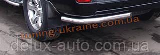 Защита заднего бампера уголки одинарные D60 на  Toyota Land Cruiser Prado VX 100 1998-2003