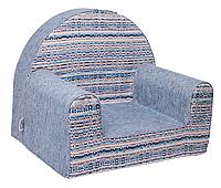 Мягкое детское кресло «Geometry», ярко-голубой