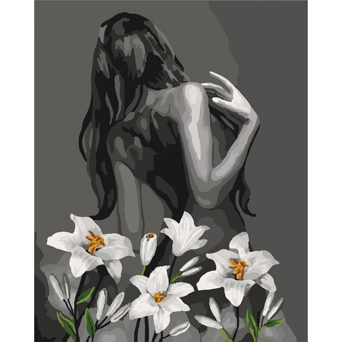 Раскраска по номерам Роковая женщина KHO4615 Идейка 40 х 50 см (без коробки)