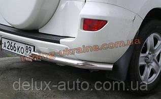 Защита заднего бампера уголки одинарные D60 на Toyota RAV 4 2000-2005