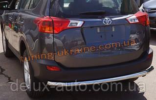 Защита заднего бампера труба прямая D60 на Toyota RAV 4 2013