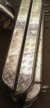 Боковые пороги труба с листом крашенные D42 на УАЗ 469