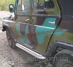 Боковые пороги труба с листом крашенные D60 на УАЗ 469