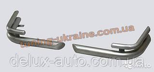 Защита заднего бампера уголки двойные (крашенные) D60-42 на УАЗ Patriot
