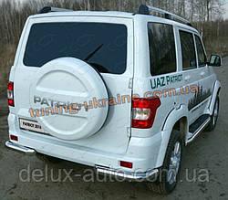 Защита заднего бампера уголки одинарные D60 на УАЗ Patriot