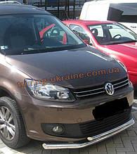 Защита переднего бампера труба двойная D60-42 на Volkswagen Caddy 2010