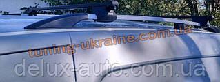 Рейлинги на крышу алюминиевые концевики ABS  на Volkswagen Caddy 2010