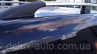 Рейлинги на крышу алюминиевые концевики ALM  на Volkswagen Caddy 2010