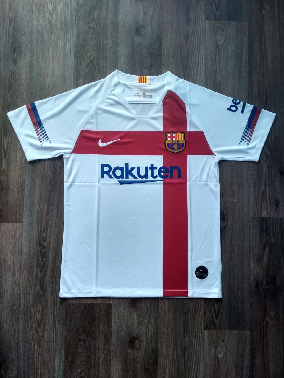 Тренировочная футболка игровая Барселона 2019-2020 белая