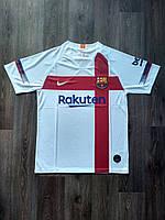Тренировочная футболка игровая Барселона 2019-2020 белая, фото 1
