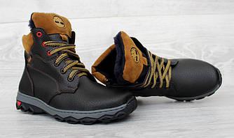 36 и 38 р. Подростковые ботинки зимние черного цвета (Сгд-22ч)