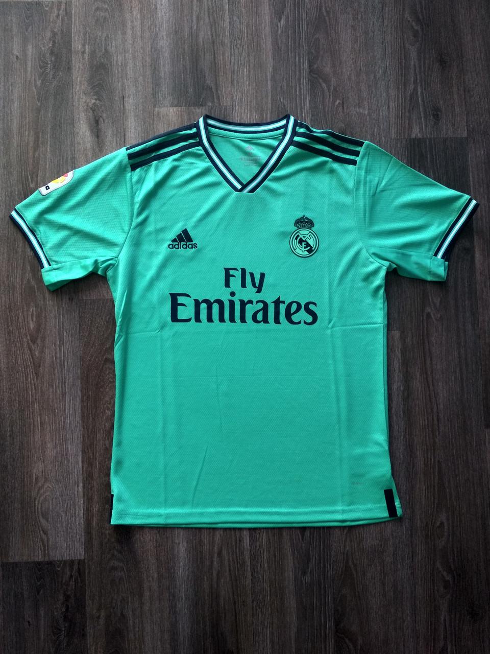 Тренировочная футболка игровая Реал Мадрид 2019-2020 бирюзовая