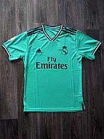 Тренировочная футболка игровая Реал Мадрид 2019-2020 бирюзовая, фото 1