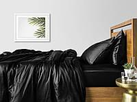 Комплект полуторного постельного белья сатин BLACK