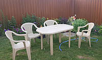 Комплект садовой мебели! Стол большой + 4 кресела!, фото 1