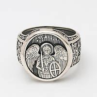 """Серебряное кольцо """"Архангел Михаил"""" 14860-Ч"""