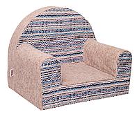 Мягкое кресло в детскую комнату «Geometry», голубой