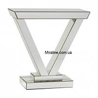 """Зеркальный консольный столик """"Малье"""" 800х800"""