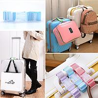 Багажный ремешок, пряжка на ручку чемодана Голубой - ремень для багажа надежно удерживает сумки