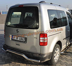 Защита заднего бампера труба с изгибом D60 на  Volkswagen Caddy 2004-2010