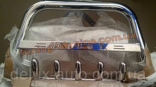 Защита переднего бампера кенгурятник низкий с надписью D60 на Volkswagen Caddy 2004-2010