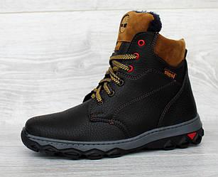 36 і 38 р. Підліткові черевики зимові чорного кольору  (Сгд-22ч)