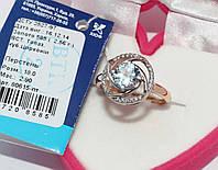 Золотое кольцо с топазом 80615-ПТ