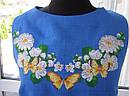 Платье без рукавов с вышивкой, квітковий розмай, фото 2