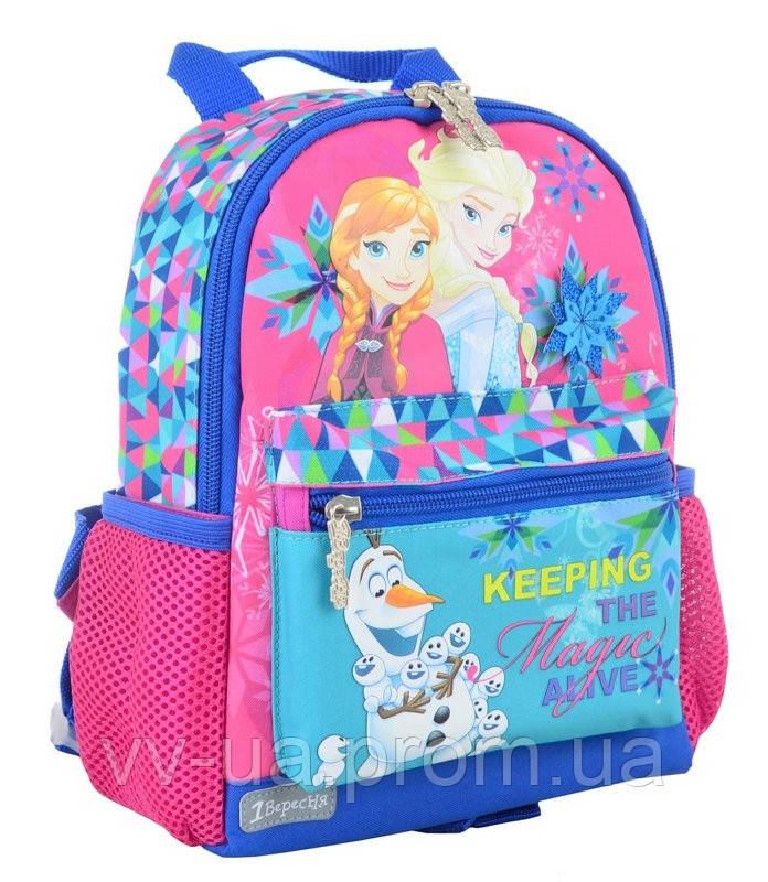 Рюкзак детский 1 Вересня K-16 Frozen, для девочек, разноцветный (554754)