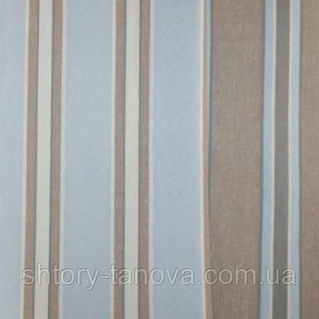 Декор двухсторонний полоса бледно-голубой