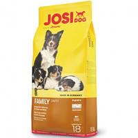 Сухой корм Josera JosiDog Family для щенков, беременных и кормящих собак, 18 кг
