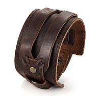 Мужской кожаный браслет напульсник Primo Manjet - Brown
